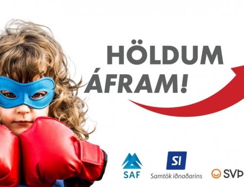 SVÞ, SAF og SI hafa tekið höndum saman um verkefnið Höldum áfram!