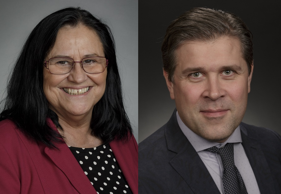 Inga Sæland og Bjarni Benediktsson